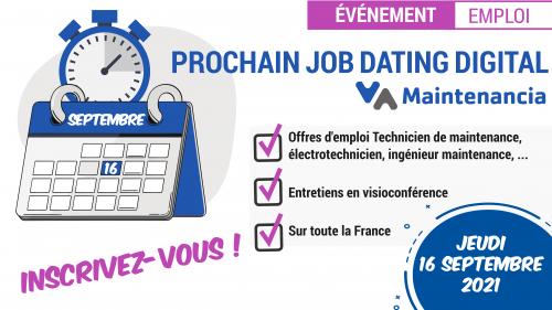 Job-Dating digital Maintenancia : 16 septembre 2021
